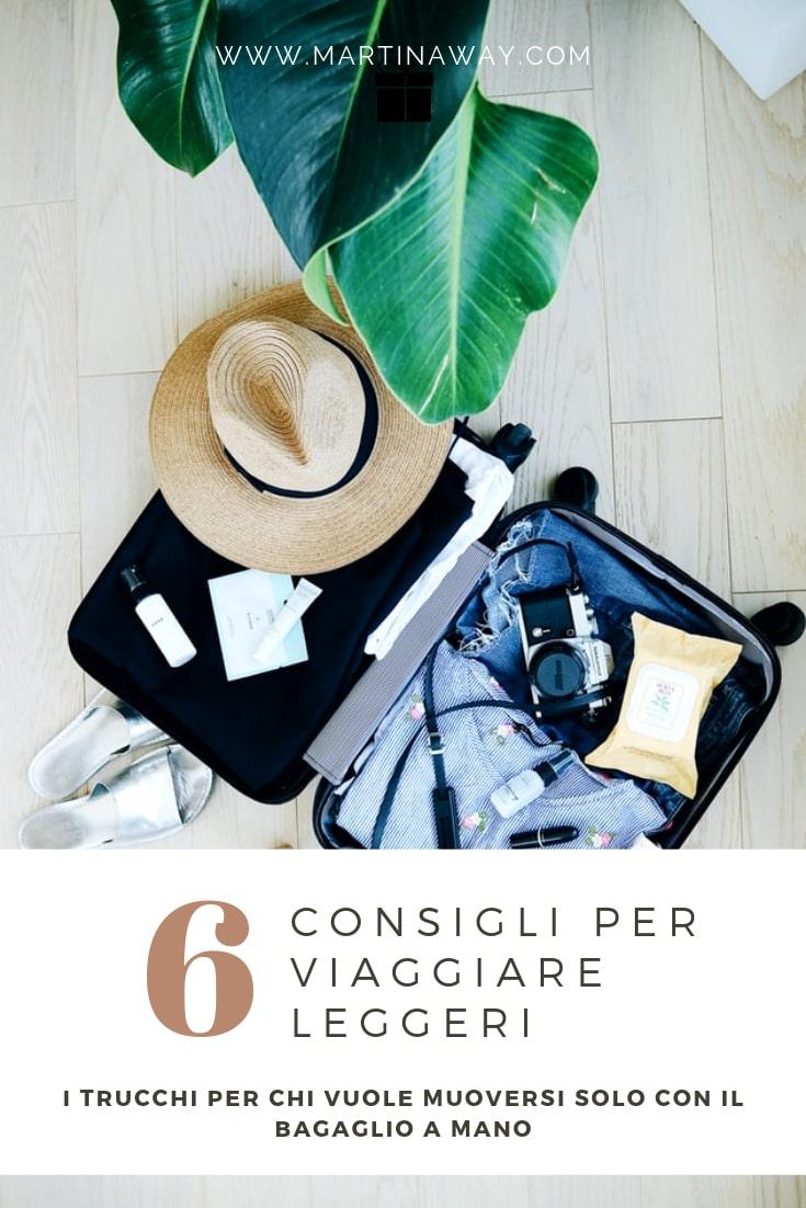 Consigli per viaggiare leggeri