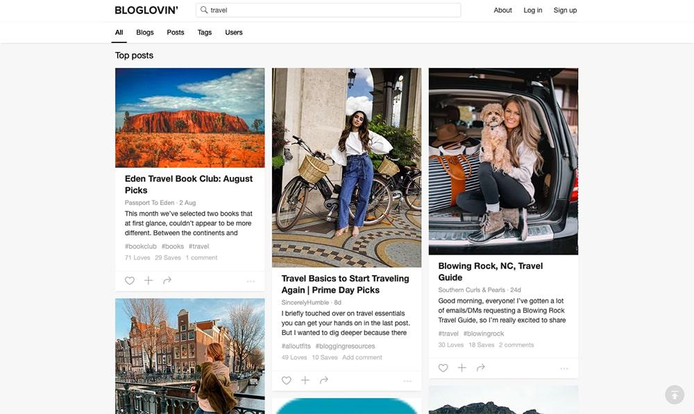 Feed travel Bloglovin'