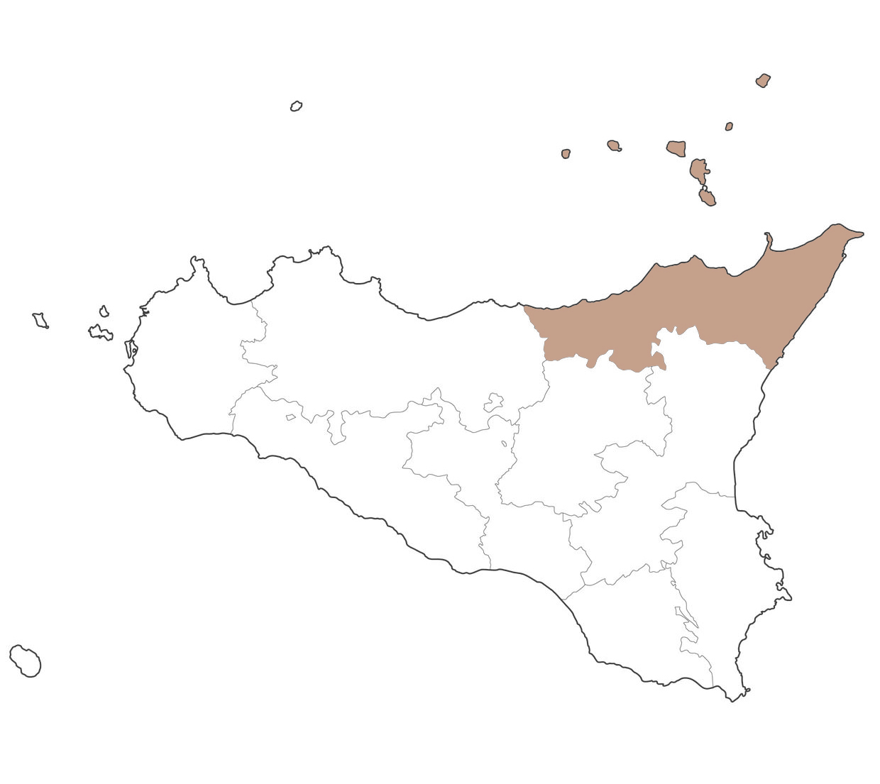 Cartina provincia di Messina