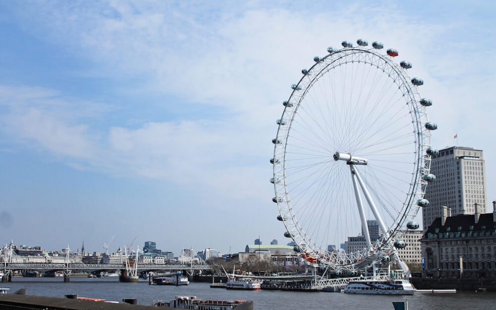 London Eye Londra dall'alto