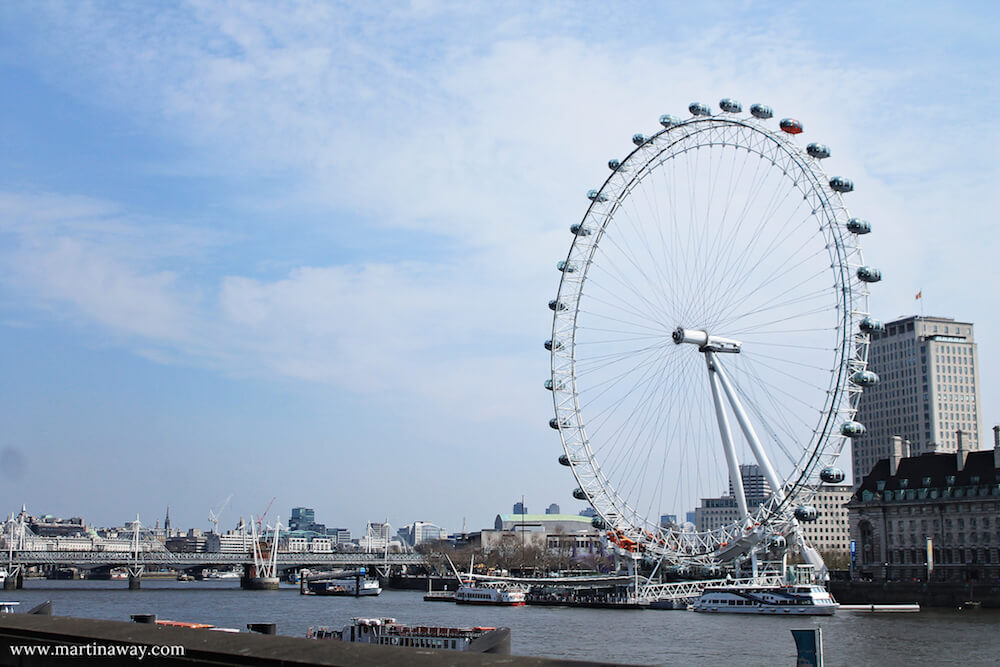 London Eye Londra dall'alto