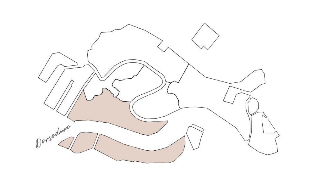 cartina sestiere Dorsoduro