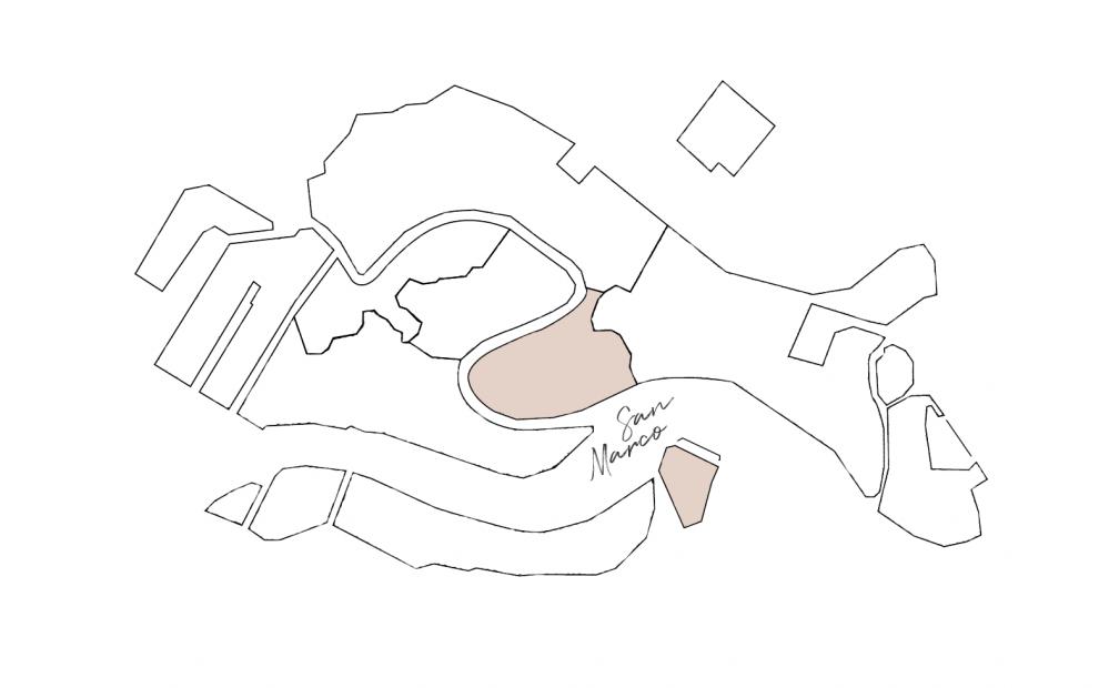 cartina sestiere San Marco
