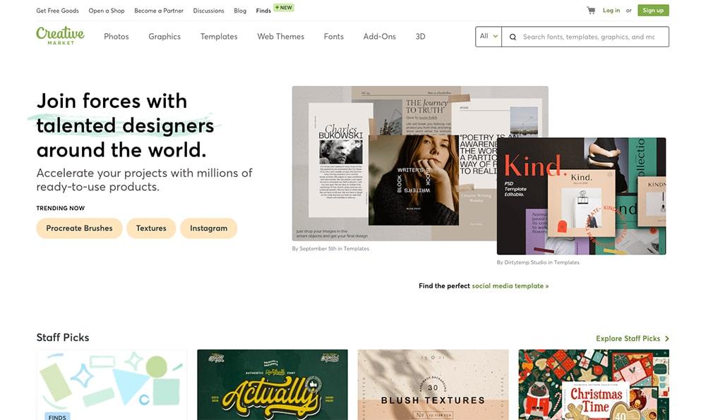 Progettazione grafica - Creative Market