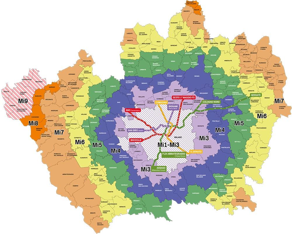 Come muoversi a Milano mappa STIBM